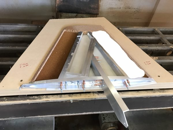 Frame and Honeycomb Core in fixture